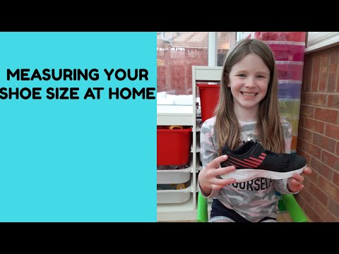 How to measure children's feet at home in a lockdown