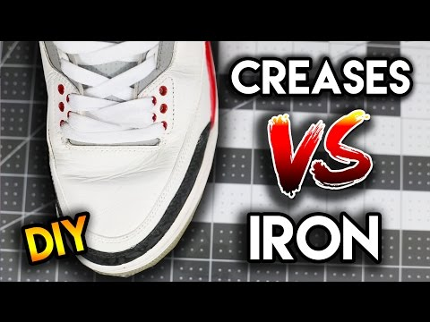 Does using an iron really get the creases out?!   how to remove creases from your shoes