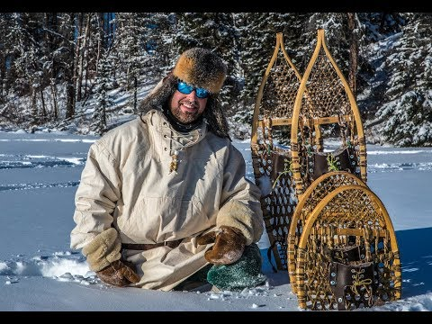 Do snowshoes work?   testing in deep snow, bear paw, ojibwa designs
